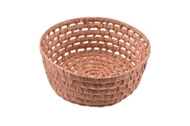 Bambum Vikar Yuvarlak Hasır Sepet 29 cm Renkli